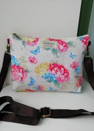 Стильна фірмова англійська сумка кросбоді jennifer rose by hydrangea!!! оригінал!!!