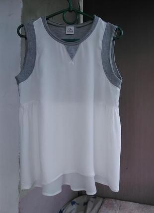 Очень красивая комбинированная блуза dena
