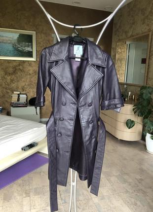 Кожаное пальто marciano guess