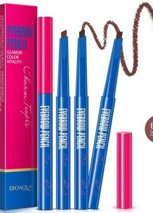 Водостойкий карандаш для бровей светло коричневый bioaqua b012