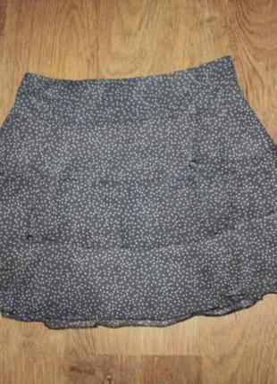 Каскадная юбка в горох label 21 40-42р.