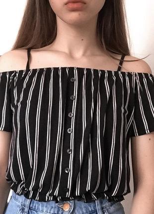 Нежная и элегантная блуза от h&m с открытыми плечами
