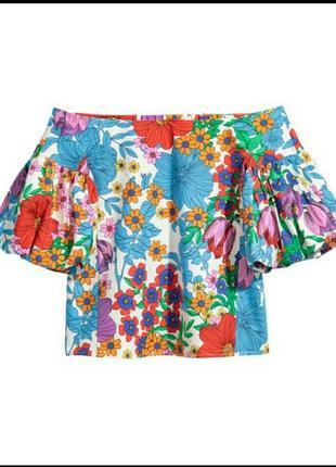 H&m блуза с открытыми плечами