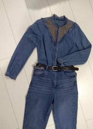 Рубашка вышиванка tom tailor zara mango asos rinaschimento  xs s джинс оригинал