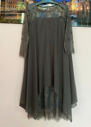 Крутое кружевное платье туника