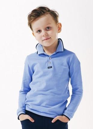 Джемпер-поло синий для мальчика 2019 тм смил