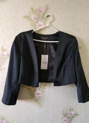 Пиджак жакет блейзер. укороченный жакет без пуговиц alexon
