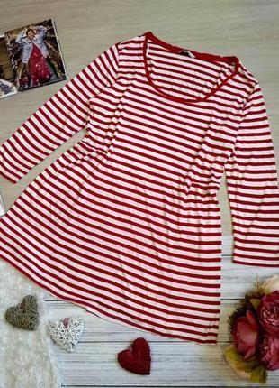 Легкое вискозное платье в полоску размер  22 (52-58)
