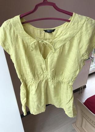Лимонная блуза блузка для мамочек кормящих h&m желтая майка топ