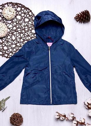 Синяя куртка ветровка для девочки ovs kids италия
