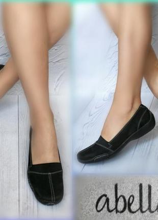 38р замша,нубук!новые канада abella,черные туфли,слиперы,мокасины