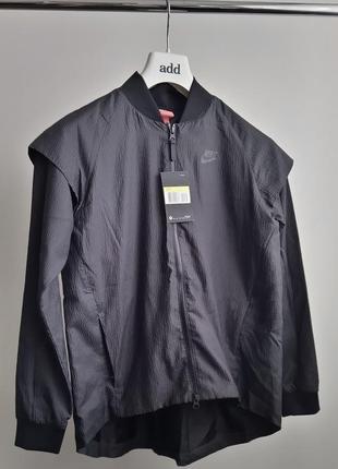 Новая ветровка трансформер (куртка/жилет) nike чёрная эффект плиссе оригинал лето найк