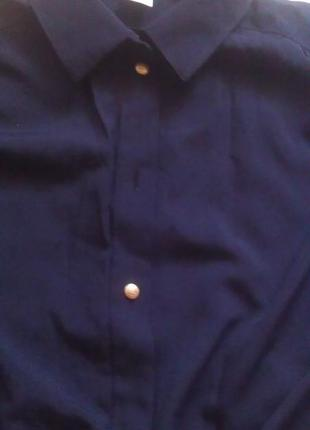 Темно-синяя рубашка2 фото