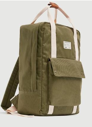 Брендовый рюкзак pull&bear хаки, новинка!