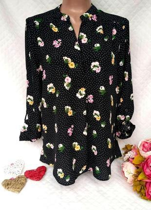 Красивая блуза в цветы размер 14 (44-46) уценка!