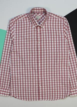Потрясная приталенная рубашка в приятных тонах от easy