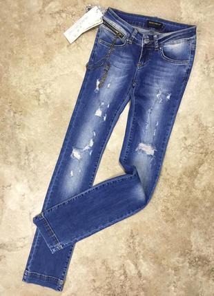 Новые джинсы с цепью black orchid