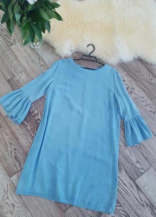 Платье zara.  тонкий джинс