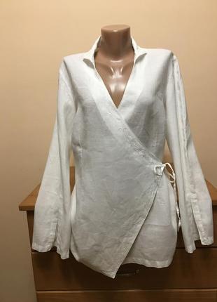 Шикарная льняная блуза promod