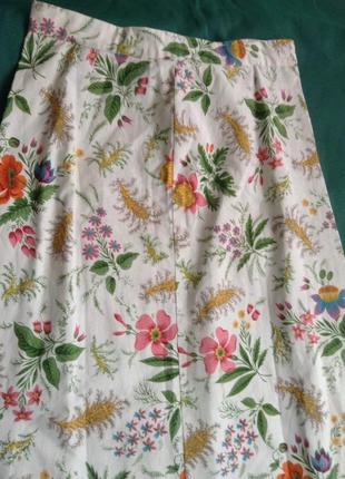 Винтажная юбка длинная в цветочный принт.5 фото