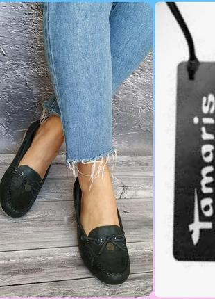 39р кожа новые tamaris германия кожаные туфли, лоферы, мокасины1 фото