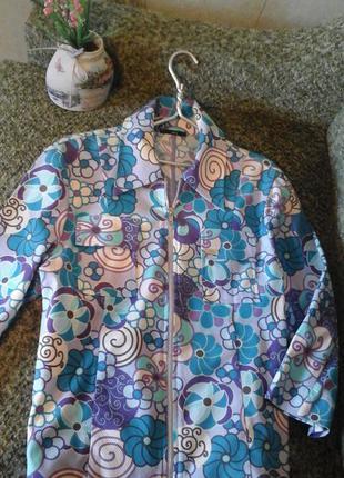 Яркий пиджак жакет (винтаж) 42-44р.