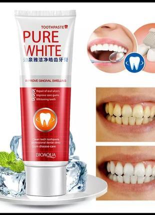 Pure white ( биоаква )отбеливающая зубная паста