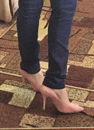 Замшевые розовые туфли dior