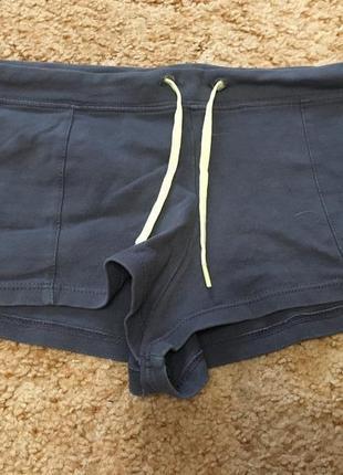 Короткие натуральные турецкие серые спортивные шортики