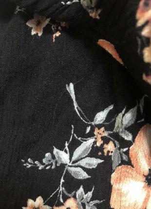 Жатые шорты в цветы h&m, новые!3 фото