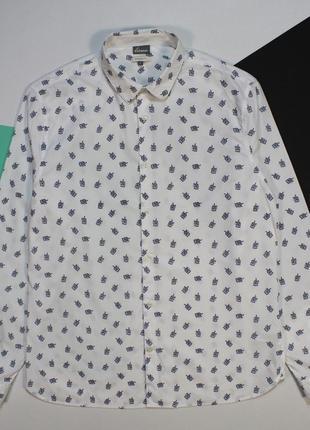 Прикольная приталенная рубашка в мульти-принт от linea