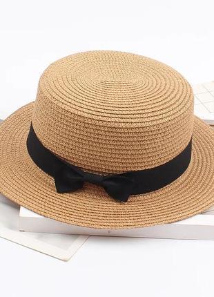 56-58 канотье шляпа женская летняя от солнца шляпка панамка летняя