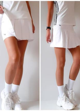 Брендовая спортивная юбка с шортами теннисная юбка шорты