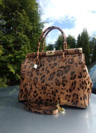 Большая кожаная сумка-саквояж коричневая италия genuine leather новая коллекция