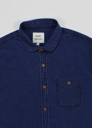 Неординарная рубашка с washed-эффектом и вышитым микро-узором от easy