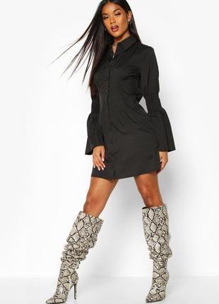 Boohoo. очень стильное платье-рубашка. uk 10 новое.
