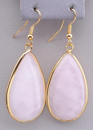 Серьги 'sunstones' розовый кварц 0911920