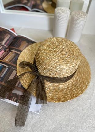 Женская летняя соломенная шляпа