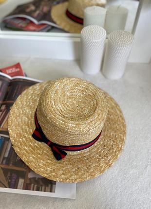 Летняя женская соломенная шляпа