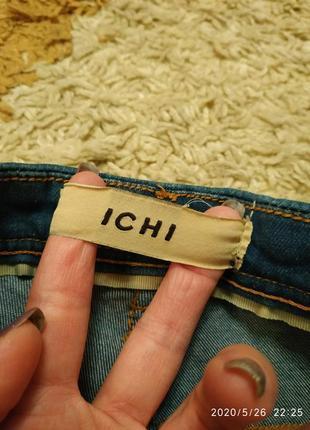 Фирменные джинсовые шорты ichi с высокой посадкой, на с-м или на подростка3 фото
