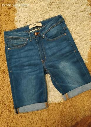 Фирменные джинсовые шорты ichi с высокой посадкой, на с-м или на подростка