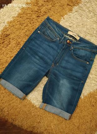 Фирменные джинсовые шорты ichi с высокой посадкой, на с-м или на подростка2 фото