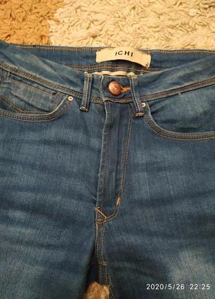 Фирменные джинсовые шорты ichi с высокой посадкой, на с-м или на подростка7 фото