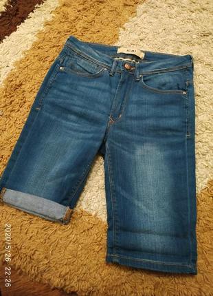 Фирменные джинсовые шорты ichi с высокой посадкой, на с-м или на подростка8 фото