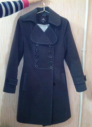 Драповое женское пальто