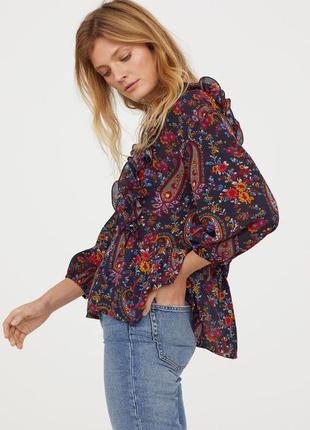 Шикарна блуза від h&m з воланами