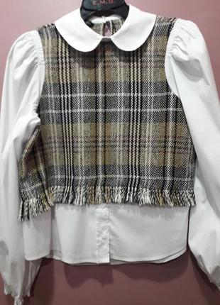 Оригинальная рубашка с широкими рукавами