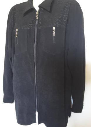 Элегантная ветровка-пиджачек из искусственного замша