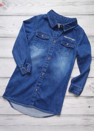 Джинсовое платье рубашка primark для девочки 2-3 лет