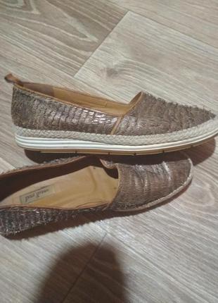 Кожанные туфли- мокасины